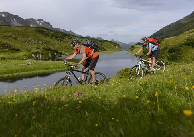 Mountain biking in St Anton